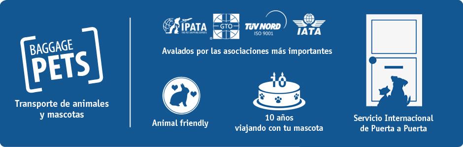 BaggagePets empresa de transporte de mascotas y animales