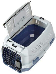 Transportin para perros de dos puertas con tapa superior